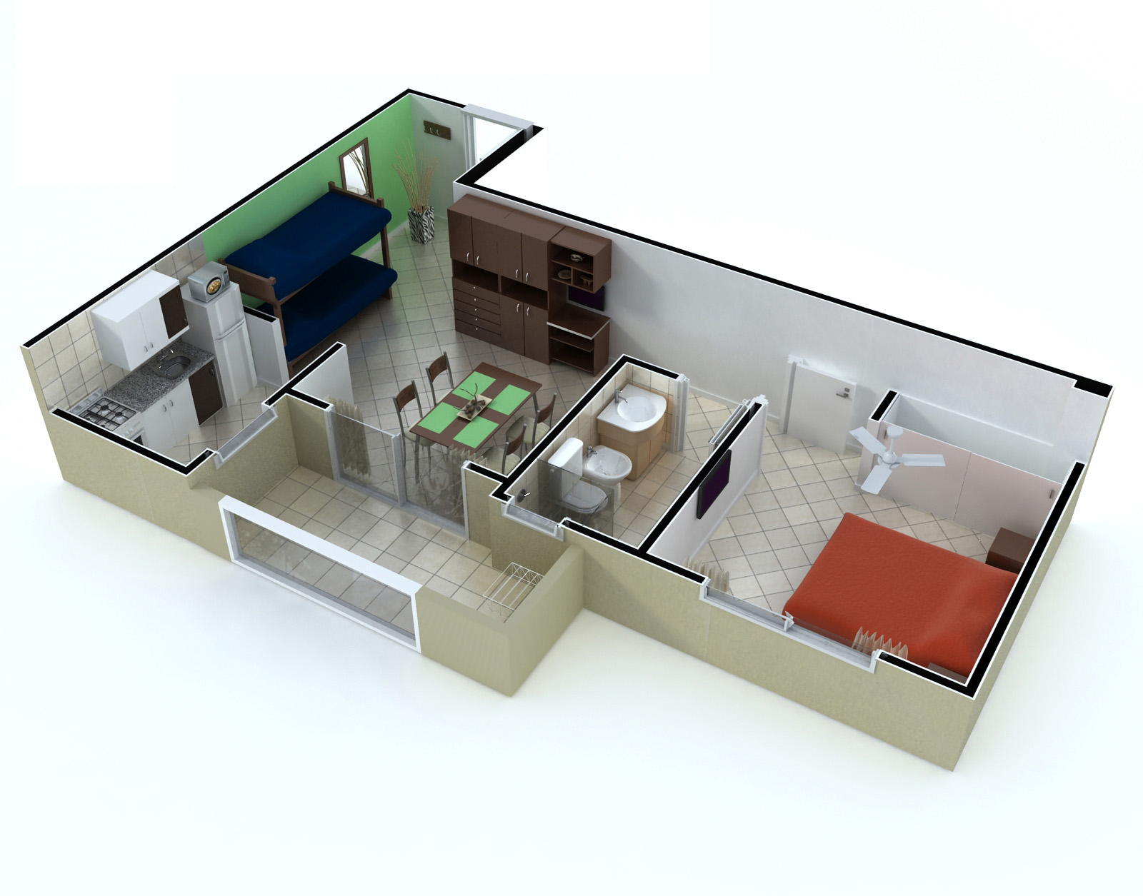 Departamentos alhambra for Departamentos planos